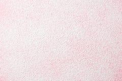 Poedersuiker op roze royalty-vrije stock foto's