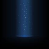 A poeira de estrela de incandescência derrama de cima de ilustração do vetor