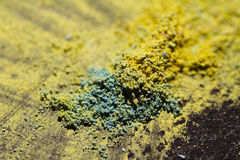 poeira de gizes coloridos Fotos de Stock