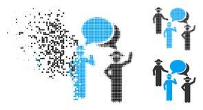 Poeira Dot Halftone Gentlemen Discussion Icon ilustração do vetor