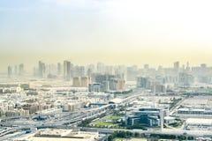 Poeira Dubai da manhã Imagem de Stock