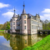 Poeke castle. Belgium. Romantic castles of Europe . Poeke castle in Belgium Stock Photography