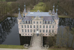 Poeke Kasteel. Aerial Image of Poeke Castle Stock Photos