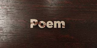 Poem - grungy wooden headline on Maple  - 3D rendered royalty free stock image Stock Photo