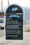 Poema a Islas Malvinas en Ushuaia Imagenes de archivo