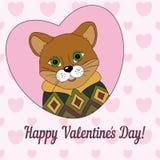 Poema in Jersey De dag van de gelukkige Valentijnskaart! Royalty-vrije Stock Foto