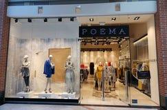 Poema store - elegant dresses for women royalty free stock photo