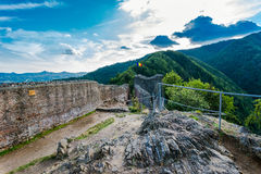 Poenari fästning, Rumänien Royaltyfria Bilder