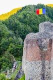 Poenari forteca zdjęcie royalty free