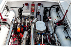 Powerful boat engine royalty free stock image
