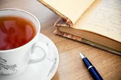 Poesía del té fotografía de archivo