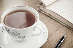 Poesía del té Foto de archivo libre de regalías