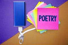 Poesía del texto de la escritura de la palabra Concepto del negocio para la expresión del trabajo literario de las ideas de las s imagen de archivo libre de regalías