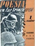 Poesía en los fosos Guerra civil española foto de archivo libre de regalías