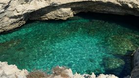 The poesia cave, puglia, italy stock photography