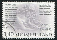 Poet Aleksis Kivi Royalty Free Stock Images