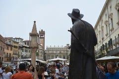 Poet Berto Barbarani statue Stock Photography