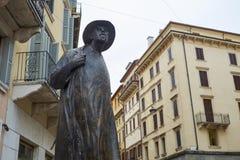 Poet Berto Barbarani statue Royalty Free Stock Photography