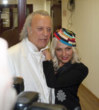 Poet Ilya Reznik and singer Laima Vaikule Royalty Free Stock Image