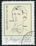Poet Janos Vajda. HUNGARY - CIRCA 1977: stamp printed by Hungary, shows poet Janos Vajda, circa 1977 Royalty Free Stock Photos
