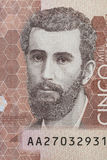 Poet Jose Asuncion Silva. On the five thousand Colombian pesos bill Royalty Free Stock Images