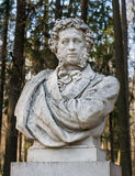 Poet Pushkin sculpture in Museum-Estate Arkhangelskoye Royalty Free Stock Photography