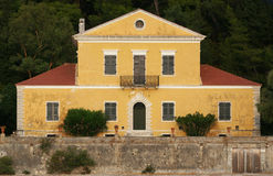 A poet's house. This beautiful old house is where one of the greatest greek poets, Aristotelis Valaoritis lived. The house is located in the small island Madouri royalty free stock images