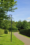 Poet's path. View of 'poet's path', a landscape or walkway with sculptures, that connects Burns cottage with the museum, Alloway, Ayrshire, Scotland Royalty Free Stock Photos