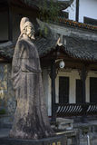 Poet. Statue of Liu Yuxi, a famous poet in china royalty free stock photography