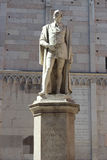Poet statue located at Piazza Torre, Modena Royalty Free Stock Photo