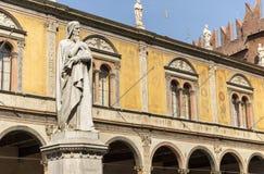 Poeta Dante i filozof Obrazy Royalty Free