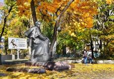 Poeta Taras Shevchenko do monumento imagem de stock
