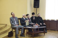 Poetic Orthodox evening in the Central library of the city of Gomel on August 29, 2014. Royalty Free Stock Photos