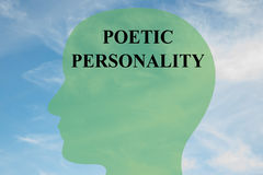 Poetic Personality concept Royalty Free Stock Image