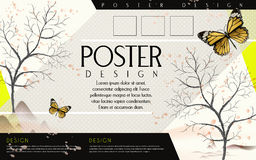 Poetic poster template design Stock Photo