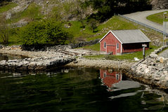 Poetical Scandinavia. Picture of potical but hard living in Lysefjord in Norway Stock Photography