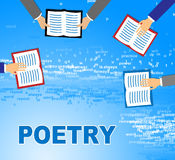 Poetry Books Means Literature Information And Rhyme Royalty Free Stock Image