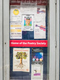 The Poetry Cafe doorway, London Royalty Free Stock Images