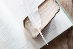 Poetry, poet, writing poems idea. Royalty Free Stock Images