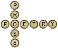 Poetry and prose crossword Royalty Free Stock Photo