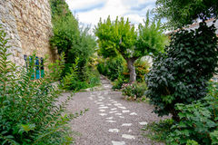 The Poets Garden in Morella. Royalty Free Stock Image