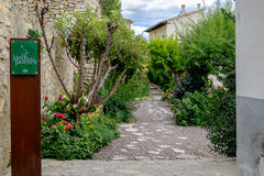The Poets Garden in Morella. Royalty Free Stock Photo