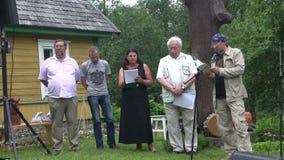 Poets read park stock video footage