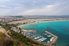 Poetto-Strand, Cagliari, Sardinien, Italien Stockfotografie