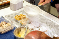 Poffertjes mini pancakes Royalty Free Stock Image