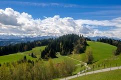 Pogórza Alps fotografia stock