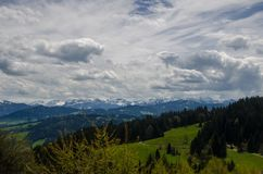 Pogórza Alps obraz stock