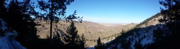 Pogórze panorama Zdjęcia Royalty Free
