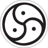 Pogański symbol - Triskelion Obrazy Stock