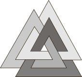 Pogański symbol - Triskelion Zdjęcia Royalty Free